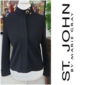 St John sz 8 Black Blazer Top Coat